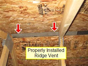 attic_ridge_vent & Attic and Roof Structure Inspection | Your Home Inspection Checklist