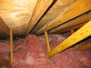 Attic ventilation blockage