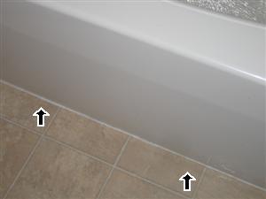 bathroom caulk floor