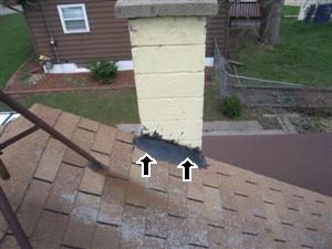 Bad Chimney Flashing