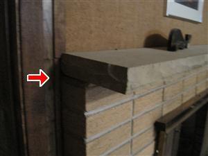Fireplace loose mantel