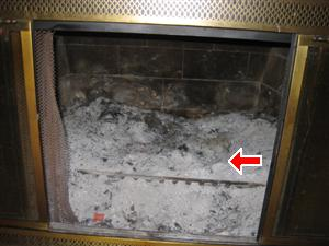 fireplace fire box cleaned