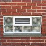 glass block window with venting