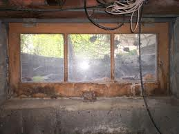 Old basement window