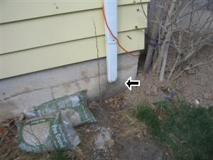 Missing Downspout Diverter