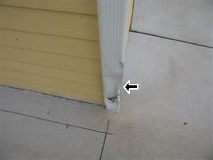 Damaged Downspout