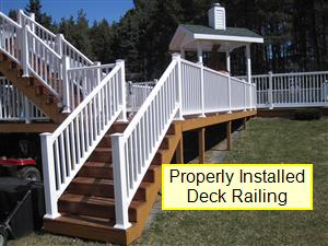 Decl railing properly installed