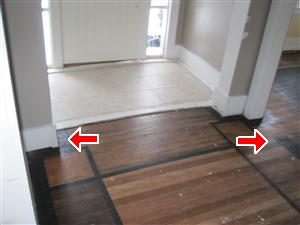 Bow in the floor
