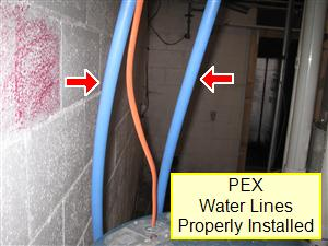Plumbing system inspection your home inspection checklist for Pex water line problems