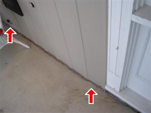 front porch caulking