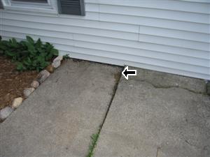 Porch cement settling