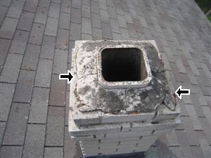 Deteriorating Roof Chimney Cap