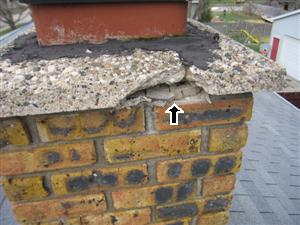 Cracking Roof Chimney Cap
