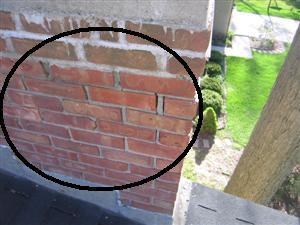 Chimney Brick Tuck Pointing