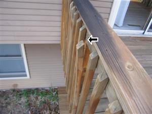 exterior deck loose spindles