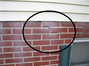exterior brick step crack