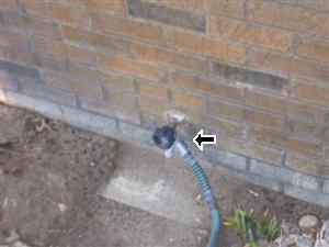 exterior faucet leak