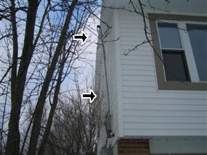 exterior electrical service