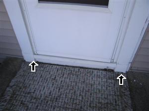 exterior door rot