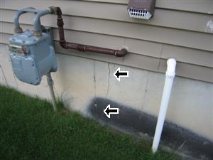 exterior foundation wall crack