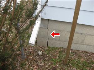 exterior 6 foundation wall crack