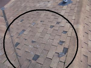 Deteriorating Shingles Due to Age